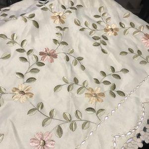Floral kitchen curtains 4 pc